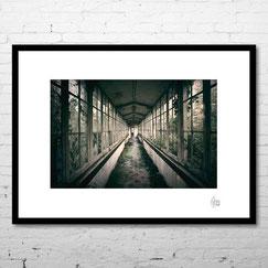 photographie d'art contemporain lieu abandonné urbex couloir nature deco cadre