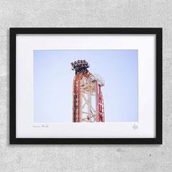 luna Park photographie new-york coney island jeux parc photo cadre fête forraine manège grand huit grand 8 montagnes russes couleur cadre photo