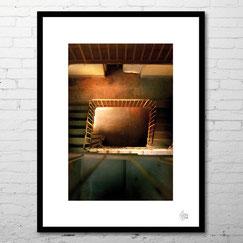 Photographie steirwell escaliers abandonnés désaffecté interieur desco cadre