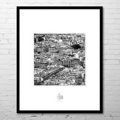 photographie d'art contemporain ville paris france noir et blanc toits de paris rooftop archi commande achat photo