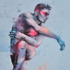 peinture-graffiti-art-tableau-streetart-portrait-homme-vert-contemporain-GRAFFMATT-80x80-On-Break