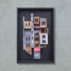 GRAFFMATT - Achat oeuvre dessin original artiste chambéry streetart palette bois œuvre d'art décoration tendance sculpture urbaine ville immeuble