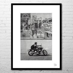 photographie etats unis paysage etats unis noir et blanc moto motorcycle