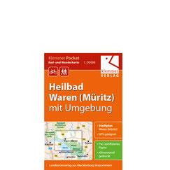 Rad- und Wanderkarte Heilbad Waren (Müritz) mit Umgebung: Beipiel für eine Klemmer Pocket