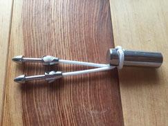 手銛の尻手金具側:ROB ALLEN/ナイロンライン2.5mm使用