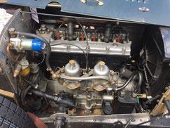 Motor von Salmson mit zwei SU Vergaser