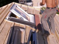 pose de velux sur toit