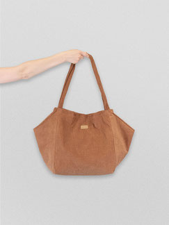 Tote Bag - totebag - große Tasche - Umhängetasche - Shopper - Cordtasche - Cord - lange Henkel - Unitasche - braun - kamelbraun - beige - Damentasche - hellbraun - Tasche braun - Handtasche - Handtasche braun
