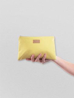 kleines Täschchen aus Baumwolle - yellow - gelb - Federmäppchen - Kulturbeutel - Etui - wasserabweisend - Täschchen - Ubangi - Zacamo - Beutel - Tasche -