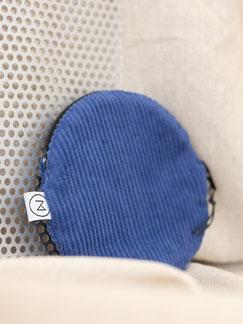 kleines Täschchen - kobaltblau - blau - Täschchen - Etui -kleiner runder Geldbeutel Cord - kleines Kosmetiktäschchen - Cord - Tasche - Zacamo