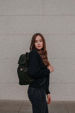 Kleiner Rucksack, dunkelgrün