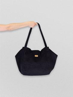 Tote Bag - totebag - große Tasche - Umhängetasche - Shopper - Cordtasche - Cord - lange Henkel - Unitasche -  schwarz - Damentasche - tiefschwarz - Tasche schwarz - Handtasche - Handtasche schwarz - Tasche dunkel