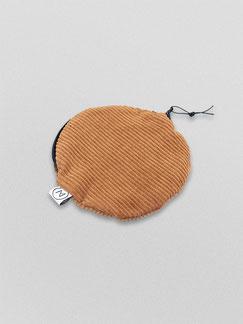 kleines Täschchen - kamelbraun - braun - Etui - Täschchen - kleiner runder Geldbeutel Cord - kleines Kosmetiktäschchen - Cord - Tasche - Zacamo