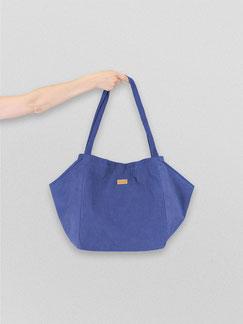 Tote Bag - totebag - große Tasche - Umhängetasche - Shopper - Cordtasche - Cord - lange Henkel - Unitasche -  blau - kobaltlbau - koenigsblau - Damentasche - Tasche blau - Tasche - Handtasche - Handtasche blau - Tasche dunkel