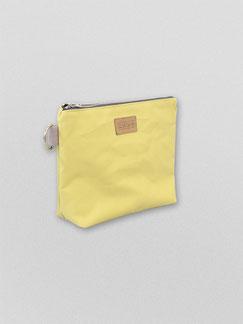 Pouch Ubangi yellow - Pouch - Kulturbeutel - ubangi - Baumwolle - grau - Täschchen - Kosmetiktasche - Federmäppchen - Zacamo - gelb