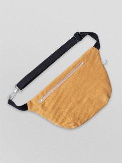 Bauchtasche - Bauchtasche Cord L - große Bauchtasche - Cordtasche - currygelb - dunkelgelb - safrangelb - gelbe Tasche - Handtasche - Bumbag - Gürteltasche - Crossbodybag - zacamo - Innenfach - größenverstellbar - Tasche - Karabiner - vegan -