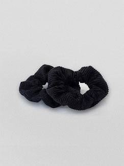Zacamo - Scrunchie - schwarz - Scrunchie Set - Scrunchies - Haargummi - Haargummis - Haarschmuck - Haarband - Haargummi Cord - Scrunchie Cord - Vintage - Retro - Scrunchie Set dusk - schwarz - dunkel - schwarze Haargummis
