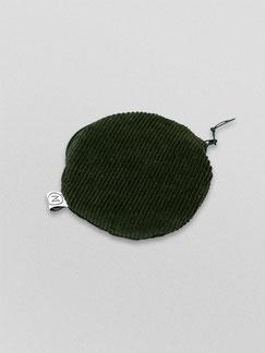 kleines Täschchen - flaschengrün - grün - grüner Cord - dunkles Täaschchen - Etui - Täschchen - kleiner runder Geldbeutel Cord - kleines Kosmetiktäschchen - Cord - Tasche - Zacamo