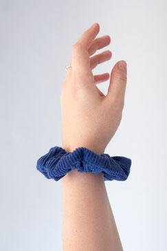 Scrunchie Cord blau