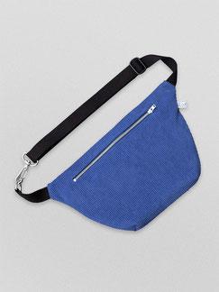 Bauchtasche - Bauchtasche Cord L - große Bauchtasche - Cord - cordtasche - blau - kobaltblau - Tasche - Handtasche - Gürteltasche - Umhängetasche - Bumbag - Crossbodybag - rote Tasche - vegane Tasche - faire Tasche - nachhaltige Tasche - zacamo -