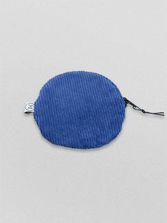 kleines Täschchen - blau - kobaltblau - Etui - Täschchen - kleiner runder Geldbeutel Cord - kleines Kosmetiktäschchen - Cord - Tasche - Zacamo