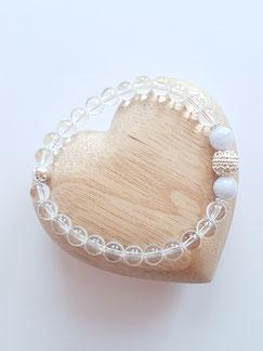 Mala-Armband aus Bergkristall, Chalcedon | Shine on MALA