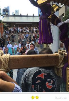 大鐡さん:芝大神宮だらだら祭連合渡御
