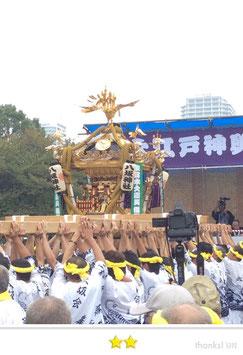 二郎さん:大江戸神輿まつり in 木場公園