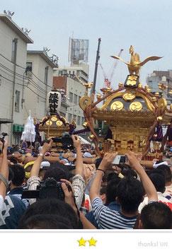 二郎さん:築地波除稲荷神社 獅子祭