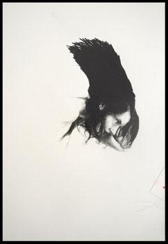 Shanti, Pencil/Collage on Paper,     65 x 50 cm, 2016