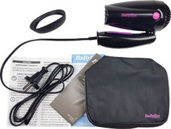 Babyliss Fön Set: Babyliss 5250 Travel Reisefön mit Tasche, Stylingdüse, Gebrauchsanweisung
