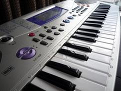 音楽療法のキーボード写真