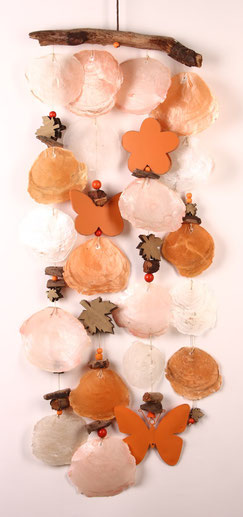 Suncatcher in orange-apricot