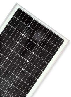 DCsolar Ecolux-Serie Solarpanele mit 70 Watt und 110 Watt zum laden von 12 Volt Batterien. Solarmodule mit Rahmen für Wohnwagen, Camper, Kastenwagen und Vans. Preiswerte Solarmodule mit Sunpower Solarzellen auch als Komplettset mit 110 Watt. Kostengünstig