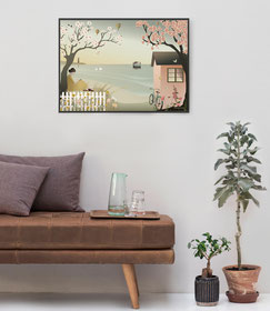 by the Sea Geschenk Poster