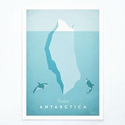 Schöne Orte Antarktis Poster im skandinavischen Stil
