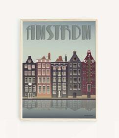 Amsterdam - Häuser am Kanal