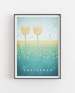 Schöne Orte Amsterdam Poster im skandinavischen Stil