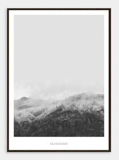 Skandinavische Poster Berge und Wälder