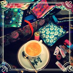 Café offert et belles matières