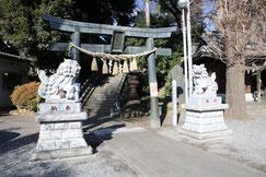 星ノ宮神社の鋳造鳥居