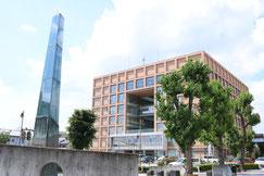 佐野市役所とアークタワー