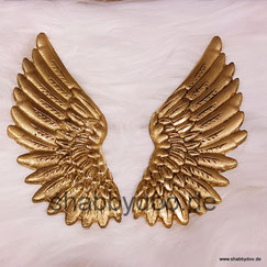 Engelsflügel in gold shabby Ornament aus Keramik