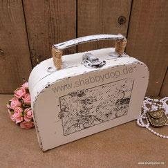 Shabby Deko kleiner Koffer mit Motiv