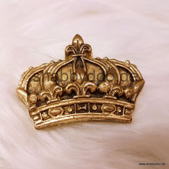 Kleine Krone gold shabby Ornament