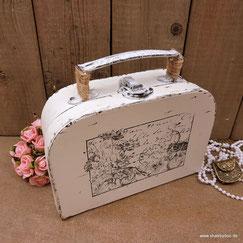 Geschenkverpackung kleiner shabby Koffer