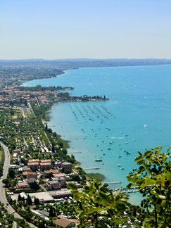 Ausblick von La Rocca, Garda