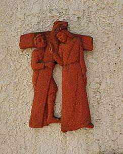 第5留 イエス、シモンの助力を受ける