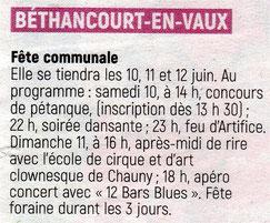 Annonce : L'Aisne Nouvelle.