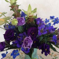 青の花3500円オーダーメイドフラワー